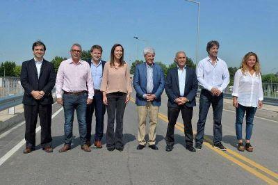 Vidal inauguró junto a Zamora y Andreotti el Puente Taurita