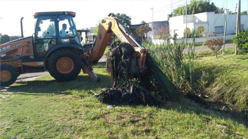 Trabajos de limpieza en Pueblo Nuevo