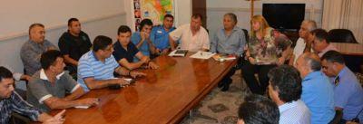 Bosetti se reunió con el Comité de Crisis para coordinar acciones de asistencia