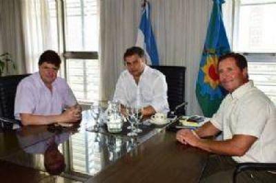 Gargaglione en La Plata con el ministro de Desarrollo Social