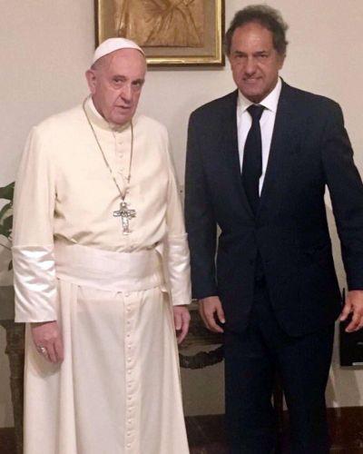 El papa Francisco recibió a Daniel Scioli