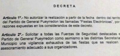 Este es el decreto que no autoriza la realización de fiestas electrónicas