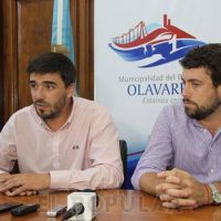 Galli y Delfino anunciaron obras de pavimentación para Olavarría