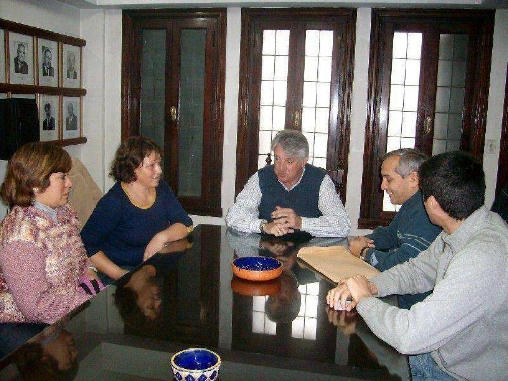 Pérez recibió a representantes de ATE