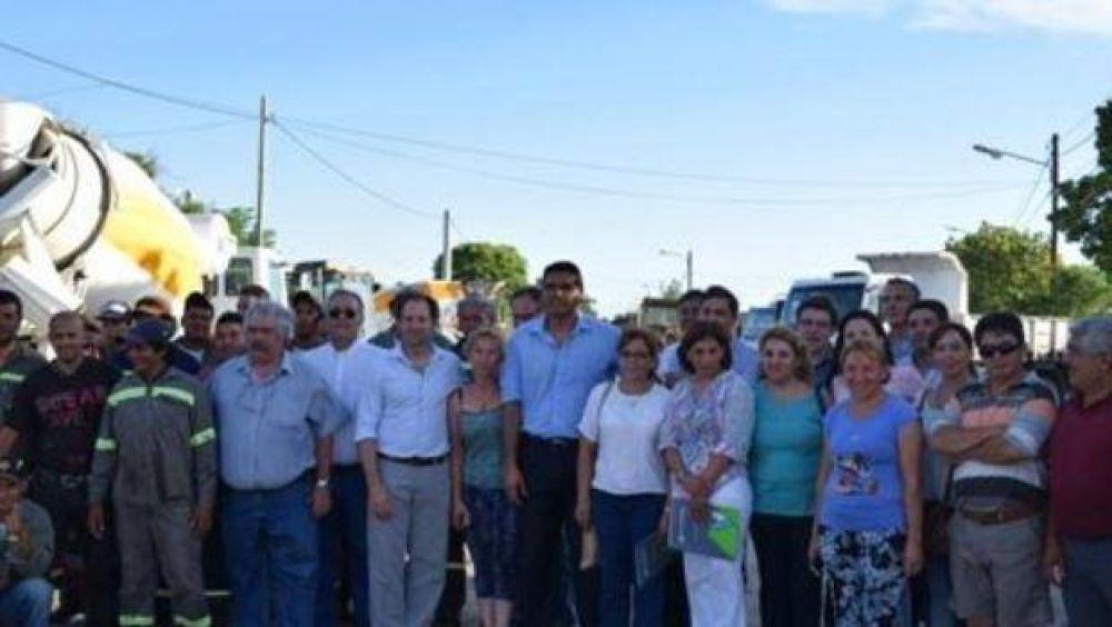 Se iniciaron las obras de urbanización en La Esperanza
