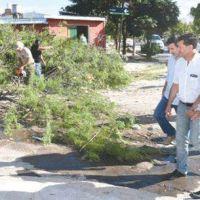 Casas relevó los operativos de recuperación en toda la ciudad