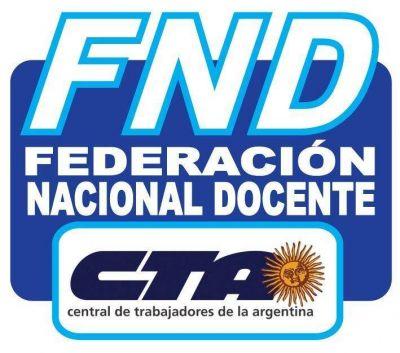 La Federación Docente, CTA reclama urgente Paritaria Nacional Salarial