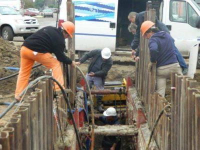 OSSE destacó los avances en agua y cloaca en el barrio Felix U. Camet