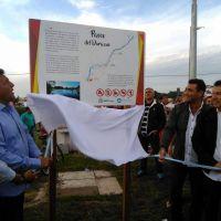 """Di Cesare y Massa inauguraron el """"Paseo del Durazno"""" en Miramar"""