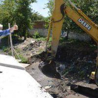 Cascallares supervisó las obras del Puente sobre el Arroyo del Rey