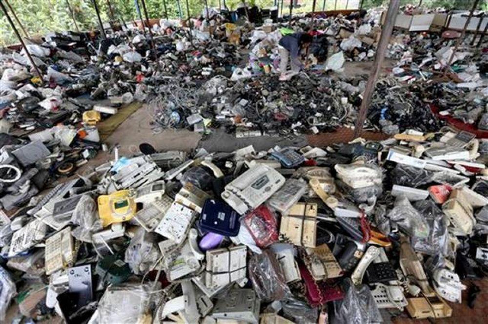 En los últimos 5 años Asia desechó 12,3 toneladas de basura electrónica