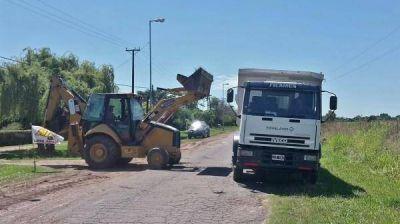 Obras pluviales y viales en Pueblo Nuevo