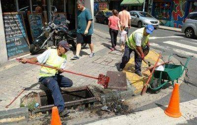Limpiarán 2.900 bocas de tormenta en el centro y macrocentro de Rosario