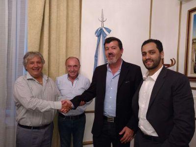 Bosetti recibió a grupo de inversor que proyecta un puerto ecológico por Pircas Negras