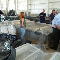 EDAR: comenzó a llegar equipamiento para la operatividad de la futura planta