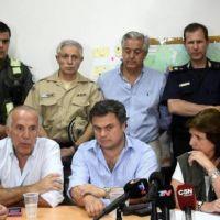 Bullrich organizó acciones en San Nicolás por las inundaciones