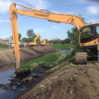 Profundizan la limpieza de los arroyos Mugica y Santa Catalina