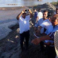 Manzur supervisó obras en el dique Santa Isabel