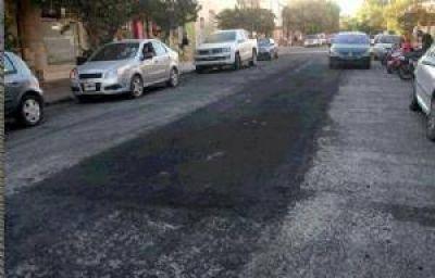 Trabajos de reparación de calles en distintos puntos de la ciudad