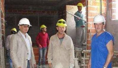 El intendente recorrió la obra del Hospital Municipal