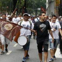 Protesta por el quiebre del pacto antidespidos