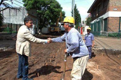 Jorge Macri recorrió las obras en marcha sobre la calle Paraná