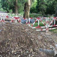 El concejal Bruera reclamó por reactivación y correcta señalización de obras en el Paseo del Bosque