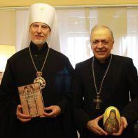 Monseñor Marino recibió al arzobispo de la Iglesia Ortodoxa Rusa