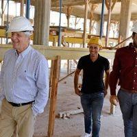 Andreotti sigue de cerca la obra del Hospital Municipal de San Fernando