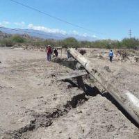 San José: Alumbrera realiza reparaciones