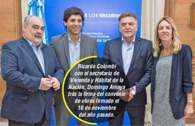 Colombi y Frigerio firman convenio multimillonario para un gasoducto