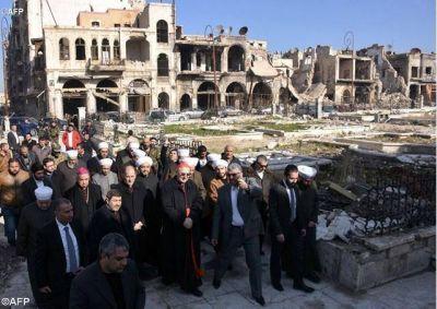 Delegado del Dicasterio para el Servicio del Desarrollo Humano Integral en misión en Alepo