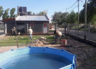 Completarán el cierre de los terrenos para las 20 viviendas de La Toma
