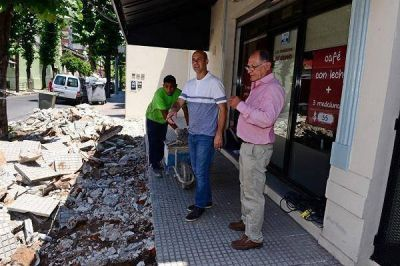 San Fernando extiende las obras en el centro comercial Constitución