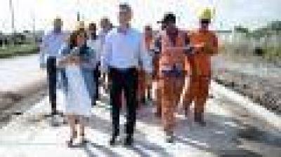 El presidente Macri recorrió obras viales en el municipio de Quilmes