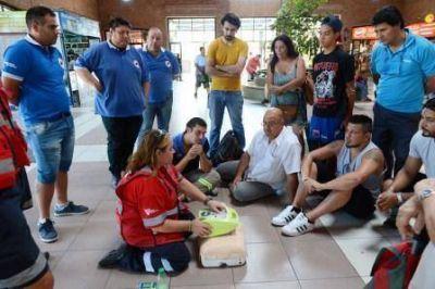 Capacitación en RCP en la Estación de Trenes de Tigre
