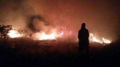 Incendios rurales: todavía quedan dos focos activos dentro de la provincia