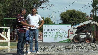 Juan Zabaleta supervisó el Plan Integral de Recuperación de Calles