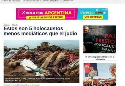 La polémica nota de Telesur que define al Holocausto como