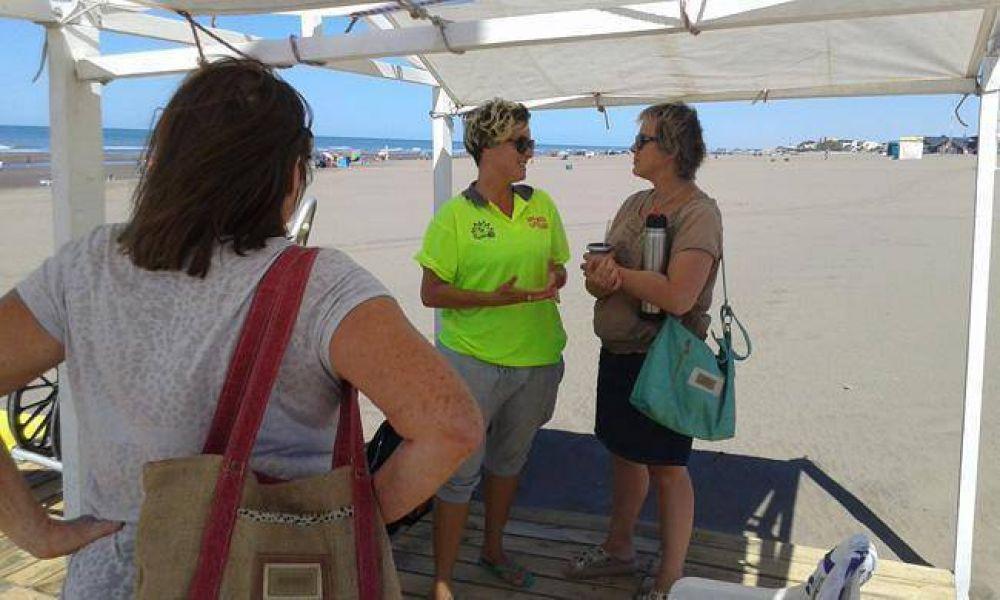 Ediles kirchneristas visitaron Claromecó