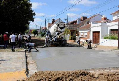 El Municipio repavimenta una cuadra de Brandsen