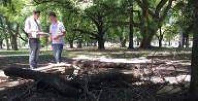 La Plata: Bruera recorrió el Parque Saavedra y cuestionó la falta de mantenimiento