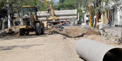 El Intendente infante gestiona fondos para obras de desagüe en la Madre de Ciudades
