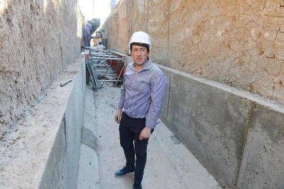 La obra hidráulica que en barrio Los Ángeles terminará con los problemas de inundación