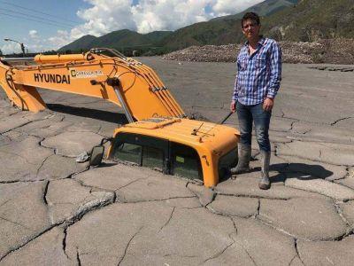Aluvión afectó gravemente a la calera de Volcán