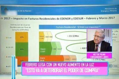 """Desde Consumidores libres consideran """"insólito"""" que los usuarios deban financiar las obras a Edenor y Edesur"""