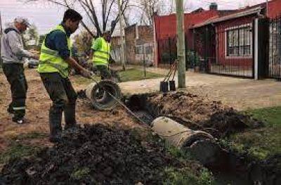 Trabajos de desobstrucción en desagües pluvio cloacales