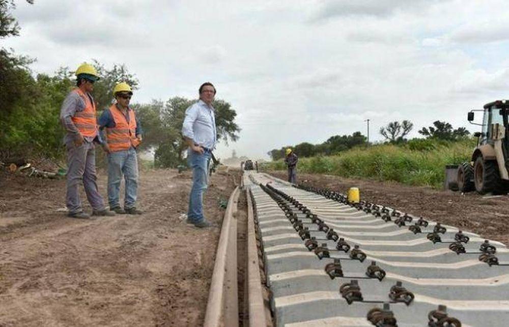 Avanza la obra de reparación ferroviaria en el sudoeste