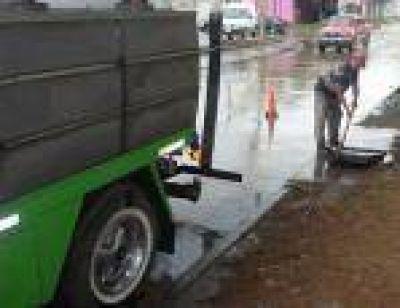 Florencio Varela: Continúa el saneamiento hidráulico luego de las lluvias