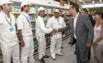 Tagliaferro inauguró la primera sucursal de Changomas en Morón